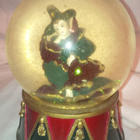 SALE! 50% OFF! The San Francisco Music Box Company Snowglobe Jester Music Box