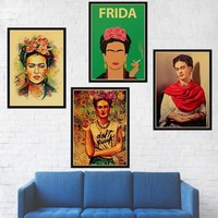Home decor Frida Kahlo wall art print painting Poster kraft paper retro poster wall decor