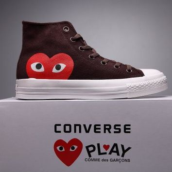 auguau Converse Comme Des Garcons Suede Chuck Taylor All Star  Brown/White  High Cut