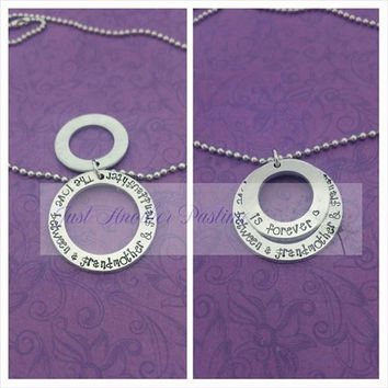 The love between a grandmother and granddaughter is forever-- Grandma necklace