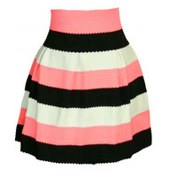 Striped Printed Skirt