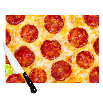 "KESS Original ""Pizza My Heart"" Pepperoni Cheese Cutting Board"