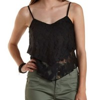 Layered Floral Lace Crop Top by Charlotte Russe
