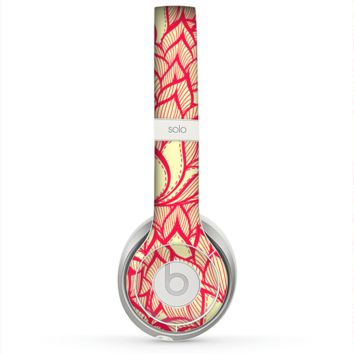 The Sketched Red and Yellow Flowers Skin for the Beats by Dre Solo 2 Headphones