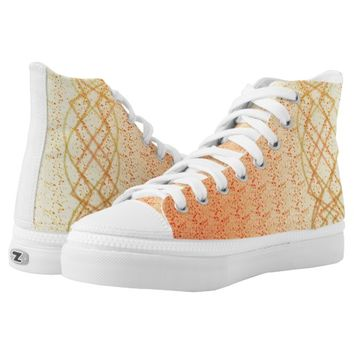 Orange Lights Printed Shoes