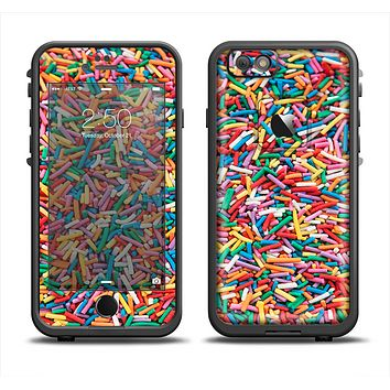 The Colorful Candy Sprinkles Apple iPhone 6 LifeProof Fre Case Skin Set