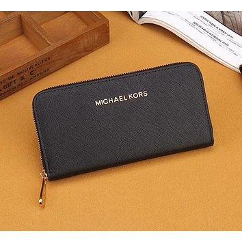 MICHAEL KORS trendy ladies fashion leather zipper wallet  F