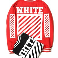 OFF WHITE  Sports Jacket Alphabet Unisex Baseball [11501028620]