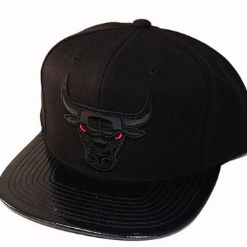 Mitchell & Ness Chicago Bulls Patent Leather Tonal Snapback Hat