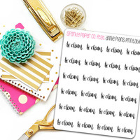 To Clean Planner Stickers (matte removable)
