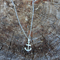 Sterling Silver Anchor Necklace, Sterling Silver Necklace, Nautical Necklace, Anchor Necklace, Sailor Jewelry, Silver Jewelry, Silver Chain
