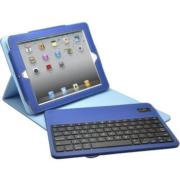 Aduro FACIO Case with Bluetooth Removable Keyboard for Apple iPad Mini, Blue/Turquoise