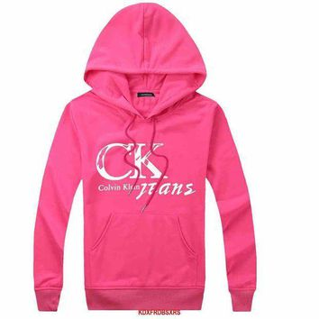 PEAPON Calvin Klein Woman Men Hooded Top Sweater Hoodie Sweatshirt