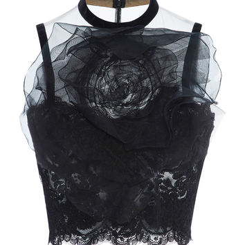 Laced Illusion Tulle Top | Moda Operandi