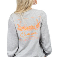 Clemson Stadium Tee - Long Sleeve – Lauren James Co.