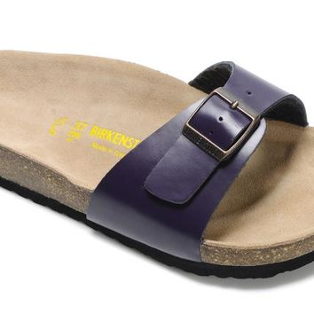 Birkenstock Madrid Sandals Leather Deep-purple - Ready Stock