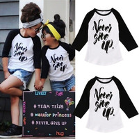Fashion Toddler Kids Baby Boys Girls Clothes Cotton Long Sleeve Tops T-shirt Clothing Girl Tops 1-6T