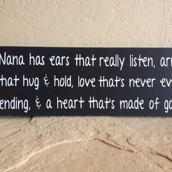 Nana Wooden Wall Sign