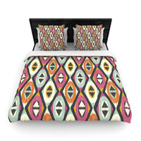 "Amanda Lane ""Sequoyah Diamonds"" Woven Duvet Cover"