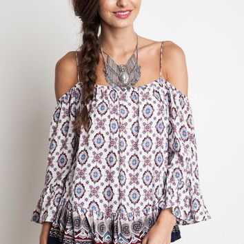 Off the shoulder peasant top
