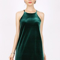 Sterling Velvet Halter Dress | Ruche