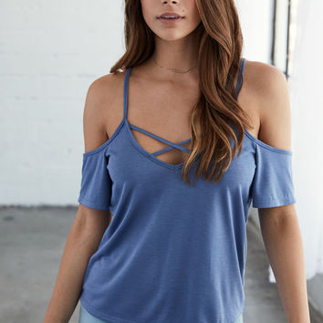 Me To We Cold Shoulder Lace-Up Top at PacSun.com