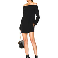 Haider Ackermann Mini Off Shoulder Dress in Black | FWRD