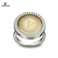 Swarovski MAESTRO Ring Silver with Blond natural stone