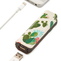 ModCloth Travel Cactus What You Preach Battery Pack