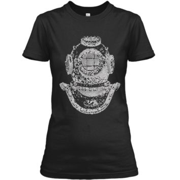 Big Texas Deep Sea Diver Helmet T-Shirt Ladies Custom