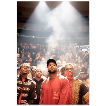 B939 New Kanye West The Life Of Pablo Grammy Rap Hip Hop Top A4 Art Silk Poster Light Canvas Painting Print Home Decor Room Wall