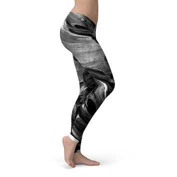 Liquid Abstract Paint V57 - All Over Print Womens Leggings / Yoga or Workout Pants