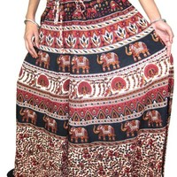Indie Maxi Skirt Elephant Printed Hippie Gypsy Casual Wear Womens long Peasant Skirts: Amazon.com: Clothing