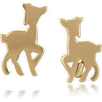 Marc by Marc Jacobs | Doe brass stud earrings | NET-A-PORTER.COM