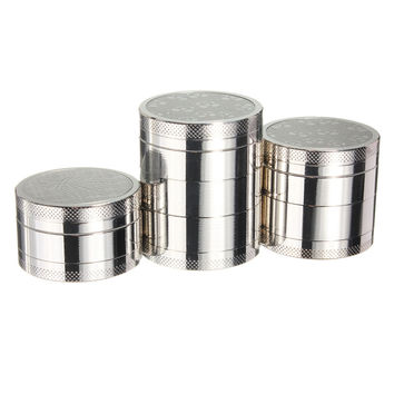 3 4 5 Layers Herb Spice Grinder Metal Plate Magnetic Pollinator 40mm Hand Hookah
