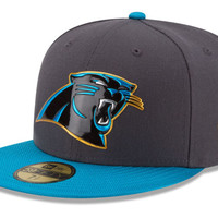 Carolina Panthers NFL Youth Gold Collection On Field 59FIFTY Cap