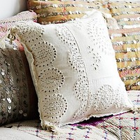 FP One Womens Sequin and Tassle Pillow
