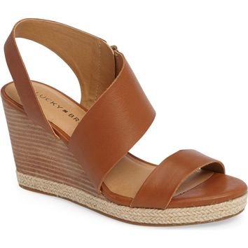 Lucky Brand Lowden Wedge Sandal (Women) | Nordstrom
