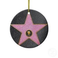 Movie Star Christmas Ornament from Zazzle.com