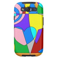 Retro Colorful Abstract Samsung Galaxy S3 Case