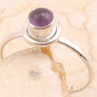 Mesmerizing Cocktail Ring Set in 925 Sterling Silver Amethyst