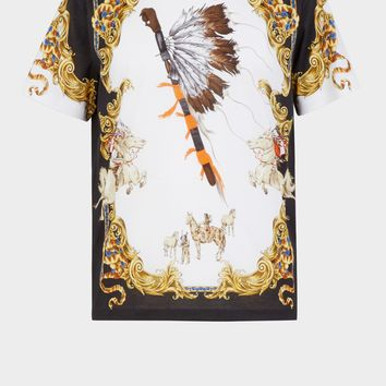 Versace Native Americans Tribute T-shirt for Women | US Online Store