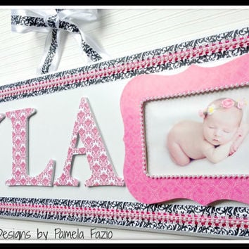 Custom Photo Nursery Plaque, Baby, Baby Gift, Baby Boy, Baby Girl, Baby Photo Frame, Baby Sign, Picture Frame, Shower Gift, Baby Shower Gift