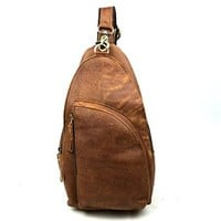 Vere Gloria Leisure Fashion Mens Genuine Leather Chest Bag Sling Bag