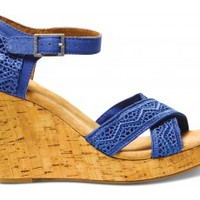 Cobalt Crochet Women's Strappy Wedges