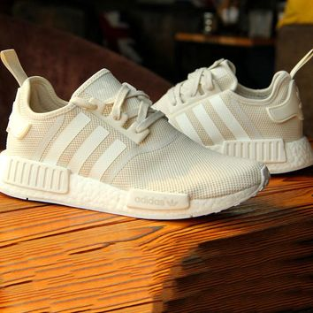 ADIDAS NMD Beige Trending Casual Running Sport Casual Shoes Sneakers Fashion The most fashionable Shoe