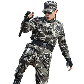 Men's Hunting Outfit Clothes Camouflage Suit Multicam Army Military Tactical Jackets+pants US Combat CS Uniforms Ghillie Costume