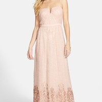 Women's Hailey by Adrianna Papell Sequin Hem Lace Gown