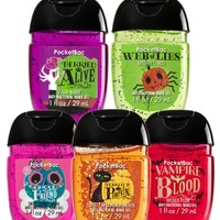 5-Pack PocketBac Sanitizers Halloween Fun