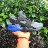 ICIKU62 Sale Nike Air Huarache 4 Rainbow Ultra Breathe Men Women Hurache Grey Dark Blue Running Sport Casual Shoes Sneakers - 103